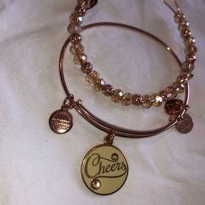 Alex and Ani Rosegold Cheers Set